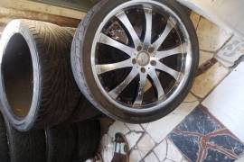 "2 20"" Tyres On Rims And Extra Tyre And 1 16&q"