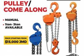 Strong & durable pulleys/ come alongs available fo