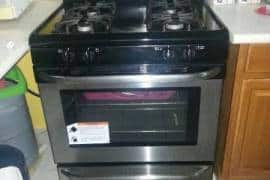 Whirlpool Silver 4 Burner Stove, With Broiler