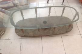 Antique, Brass Coffee Table